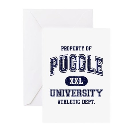 Puggle University Greeting Cards (Pk of 10)