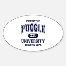 Puggle University Sticker (Oval)