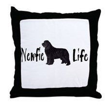Newfie Life Throw Pillow