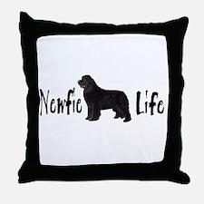 Newfie Life Throw Pillow