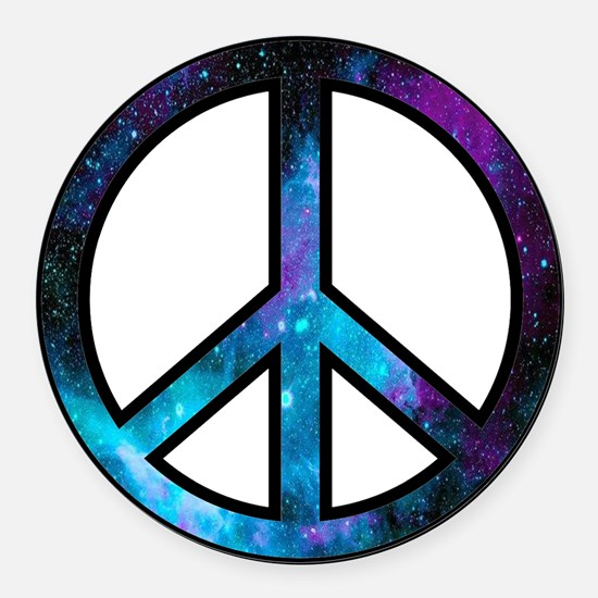 Galactic Peace Round Car Magnet