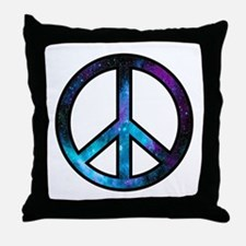 Galactic Peace Throw Pillow