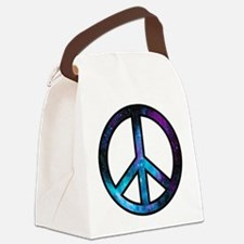 Galactic Peace Canvas Lunch Bag