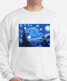 Starry Night Border Collies Sweatshirt