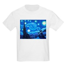 Starry Night Border Collies T-Shirt