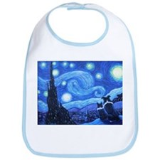 Starry Night Border Collies Bib