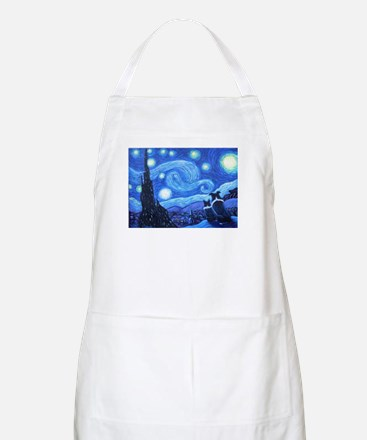 Starry Night Border Collies Apron