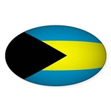 Bahamas Flag Rounded Oval Decal