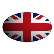 Britian Flag Rounded Oval Decal