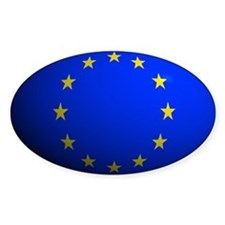 European Union Flag Rounded Oval Decal