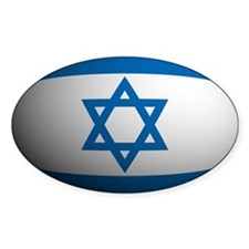 Israel Flag Rounded Oval Decal