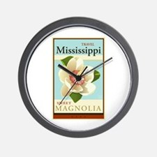 Travel Mississippi Wall Clock