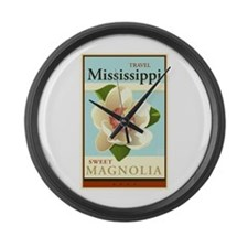 Travel Mississippi Large Wall Clock