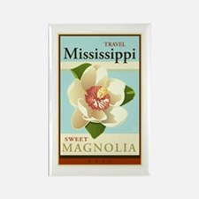 Travel Mississippi Rectangle Magnet