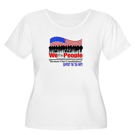 WE THE PEOPLE Women's Plus Size Scoop Neck T-Shirt
