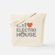 I love Electro House Tote Bag