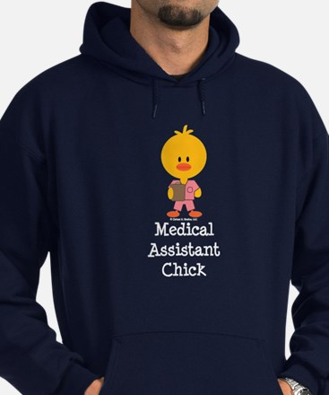 Medical Assistant Chick Hoodie (dark)