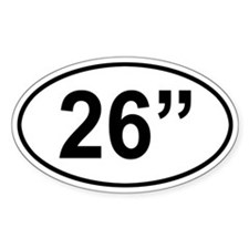 26 Inch Oval Decal