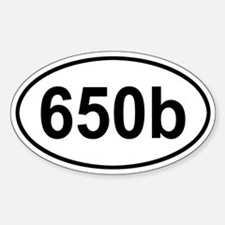 650b Oval Decal