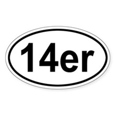 14er Oval Bumper Stickers