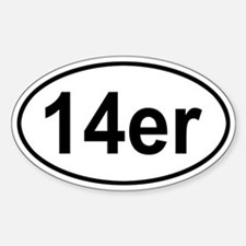 14er Oval Decal