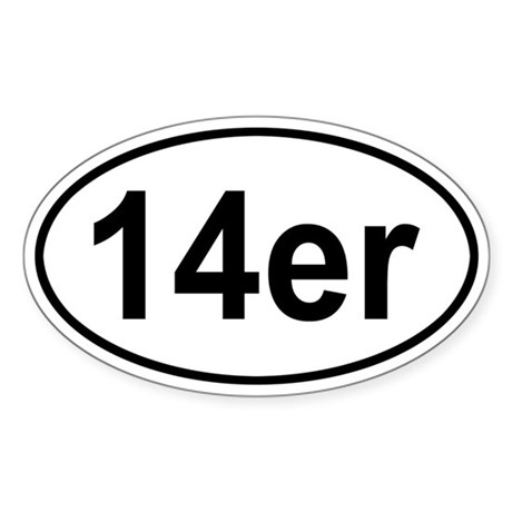 14er Oval Sticker