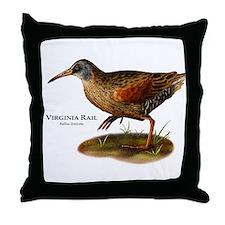 Virginia Rail Throw Pillow