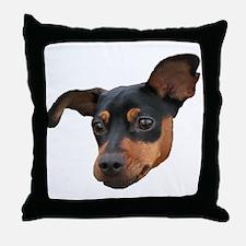 Cute Miniature pinscher Throw Pillow