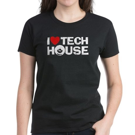 I Love Tech House Women's Dark T-Shirt