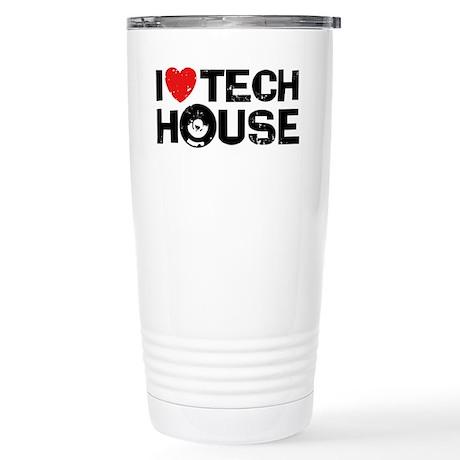 I Love Tech House Stainless Steel Travel Mug
