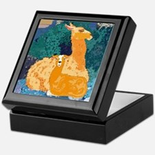 Mother and Baby Llama Jewelry Box
