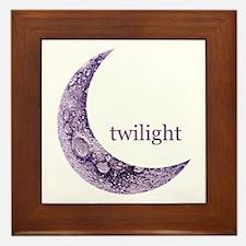 Twilight Quarter Moon Framed Tile
