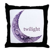 Twilight Quarter Moon Throw Pillow