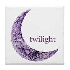Twilight Quarter Moon Tile Coaster