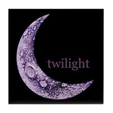 Twilight Quarter Moon Tile Coaster