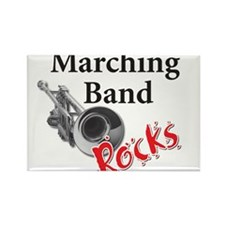 Cute Marching band Rectangle Magnet
