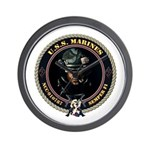 USS Marines Wall Clock