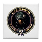 USS Marines Tile Coaster