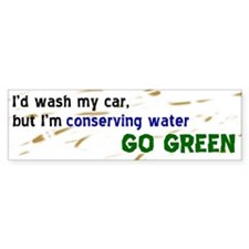 Water Conservation Bumper Bumper Sticker