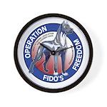 Operation Fido's Freedom Wall Clock
