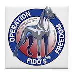 Operation Fido's Freedom Tile Coaster