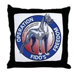 Operation Fido's Freedom Throw Pillow