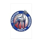 Operation Fido's Freedom Sticker (Rectangle 50 pk)