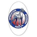 Operation Fido's Freedom Sticker (Oval 50 pk)
