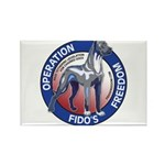 Operation Fido's Freedom Rectangle Magnet (10 pack