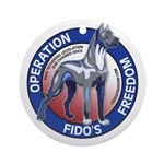 Operation Fido's Freedom Ornament (Round)
