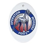 Operation Fido's Freedom Ornament (Oval)