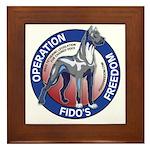 Operation Fido's Freedom Framed Tile