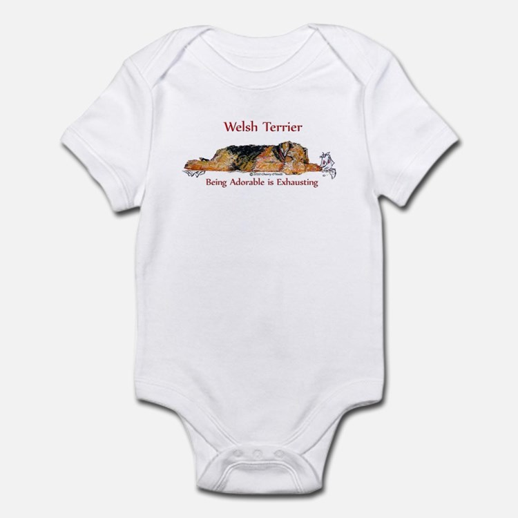 Exhausted Welsh Terrier Infant Bodysuit