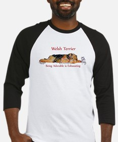 Exhausted Welsh Terrier Baseball Jersey